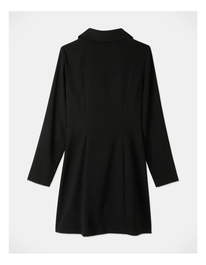Tuxedo Dress with Pleather Trim image 6