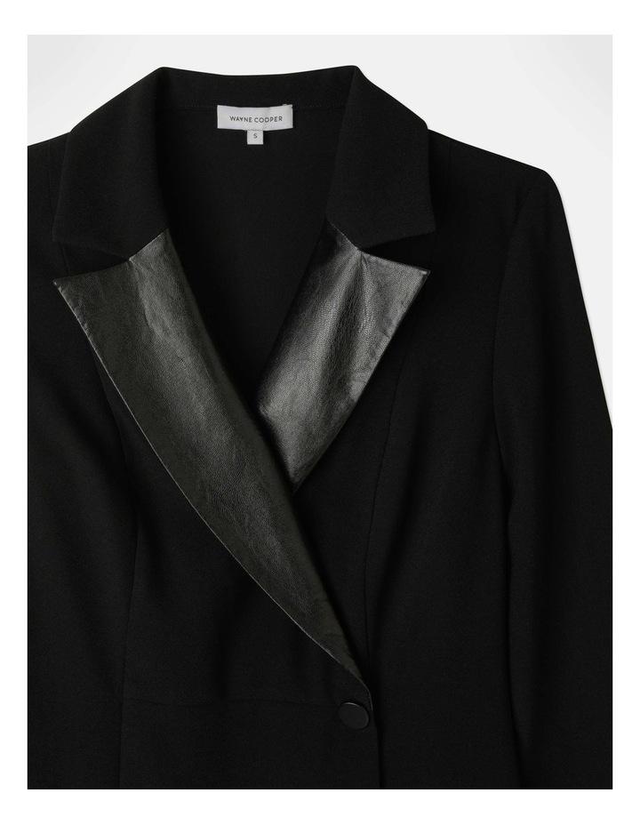 Tuxedo Dress with Pleather Trim image 7