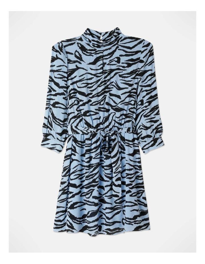 Zebra Print Dress With Tie image 1