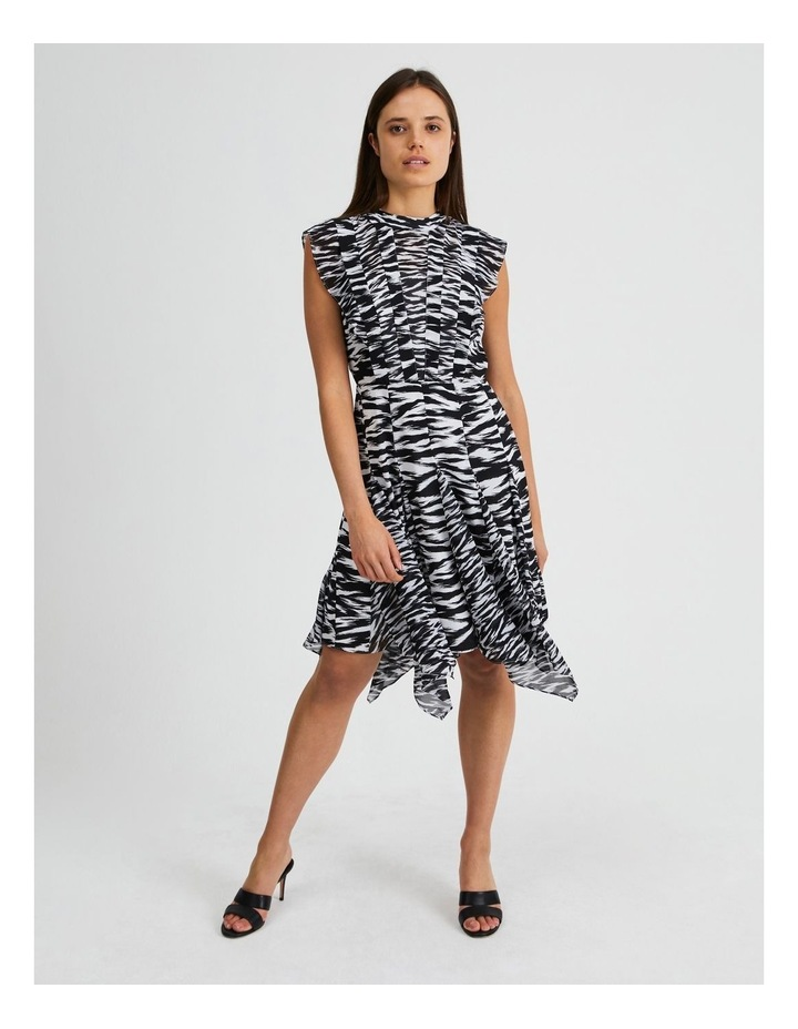 Spliced Print Mini Dress In The Wild image 1