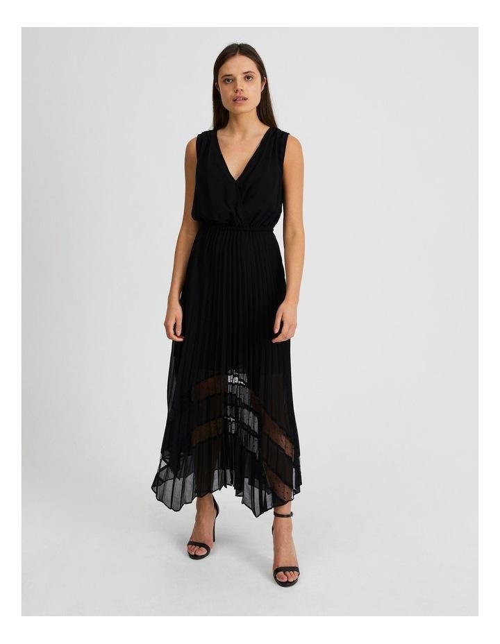 Black Pleat Hanky Hem Dress image 1