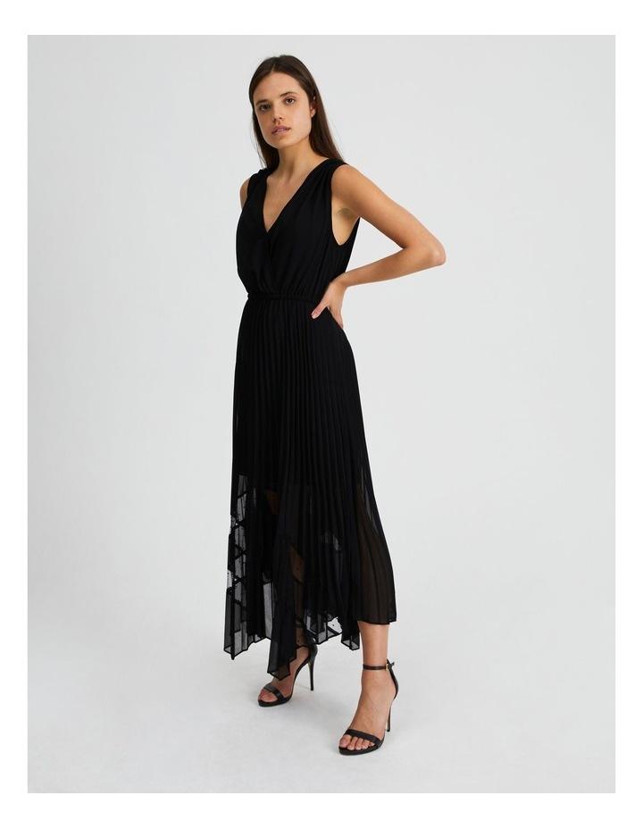 Black Pleat Hanky Hem Dress image 2