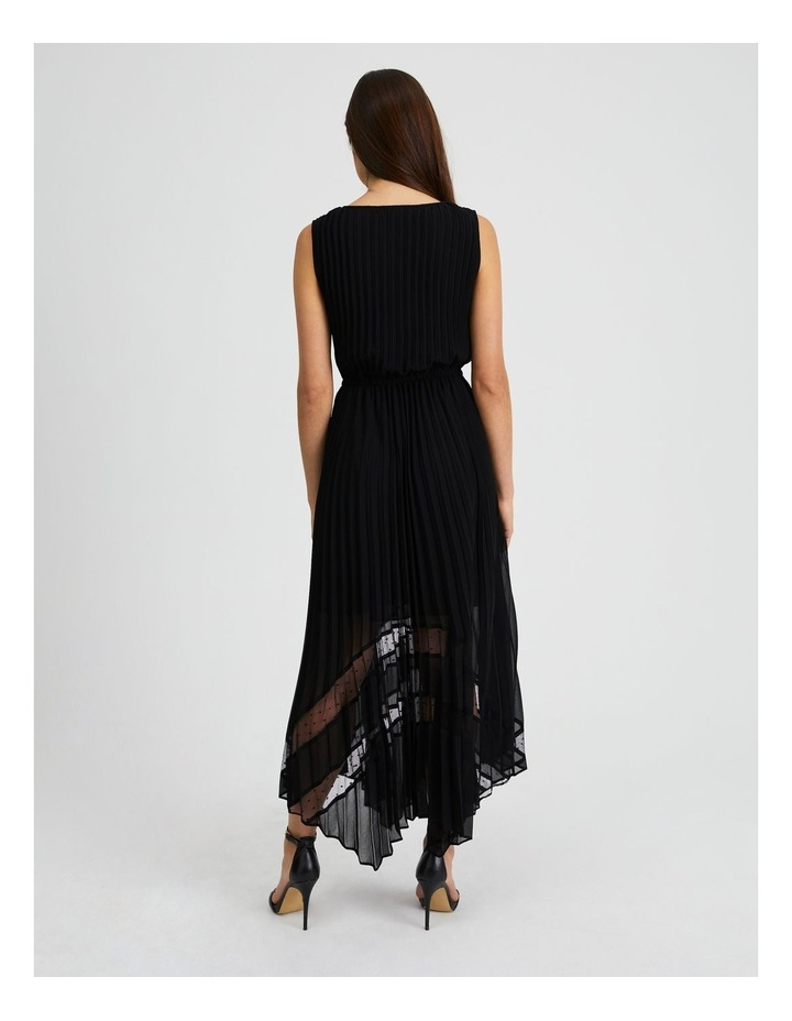 Black Pleat Hanky Hem Dress image 3
