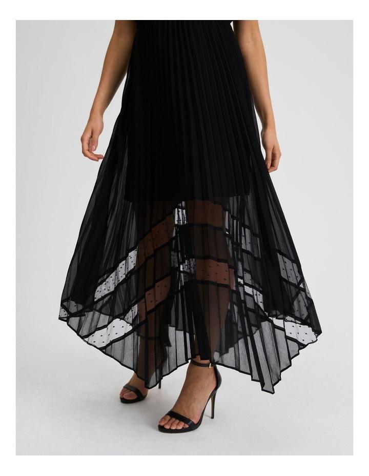 Black Pleat Hanky Hem Dress image 4