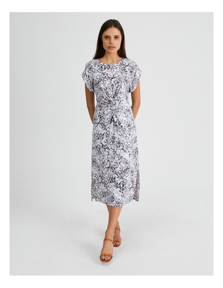 Twist Front Knit Dress Animal Illusion image 1