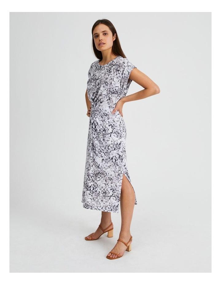 Twist Front Knit Dress Animal Illusion image 2