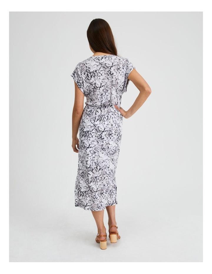 Twist Front Knit Dress Animal Illusion image 3