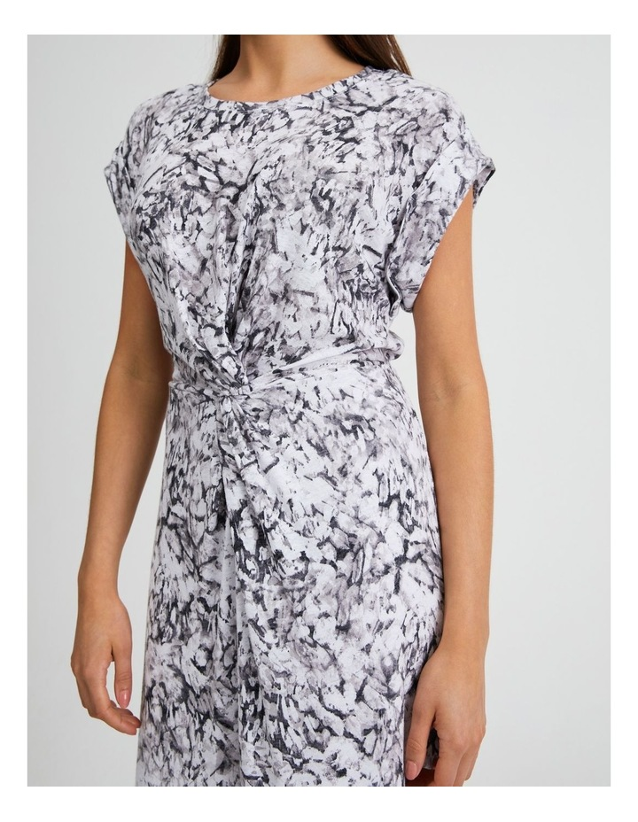 Twist Front Knit Dress Animal Illusion image 4