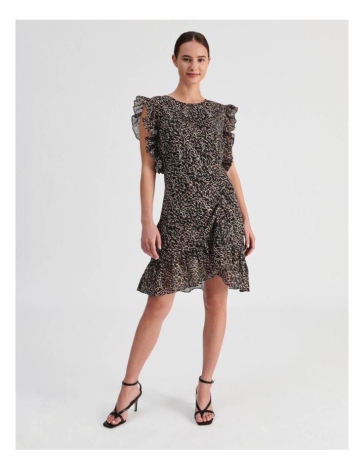 High Neck Ruffle Dress image 1