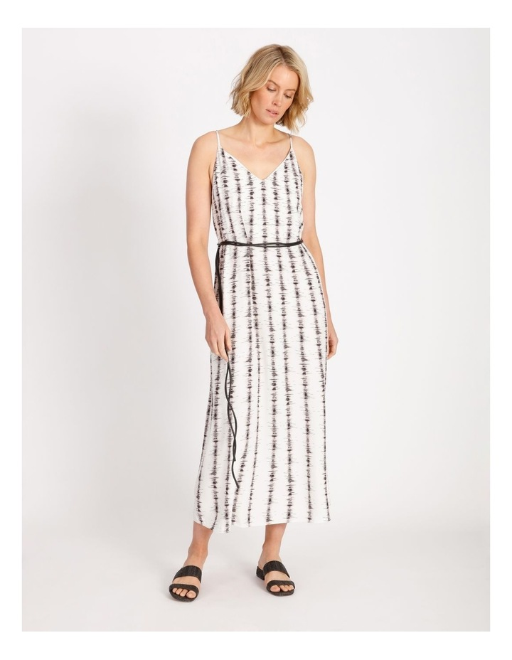 Stripe Slip Dress With Tie image 1