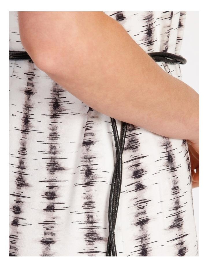 Stripe Slip Dress With Tie image 4