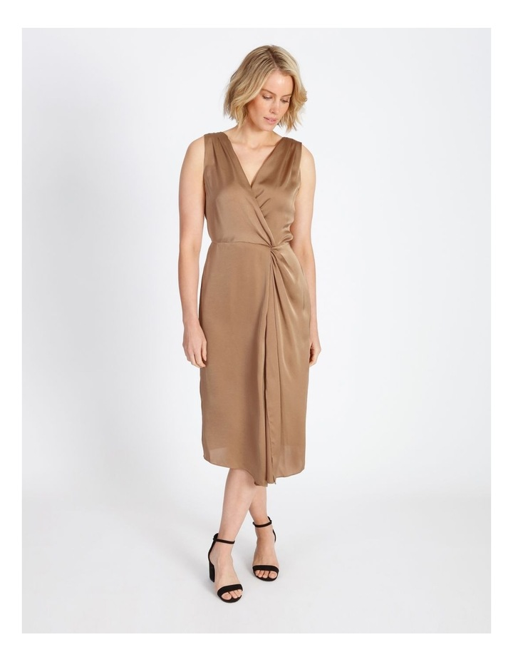 Twist Front Satin Dress image 1