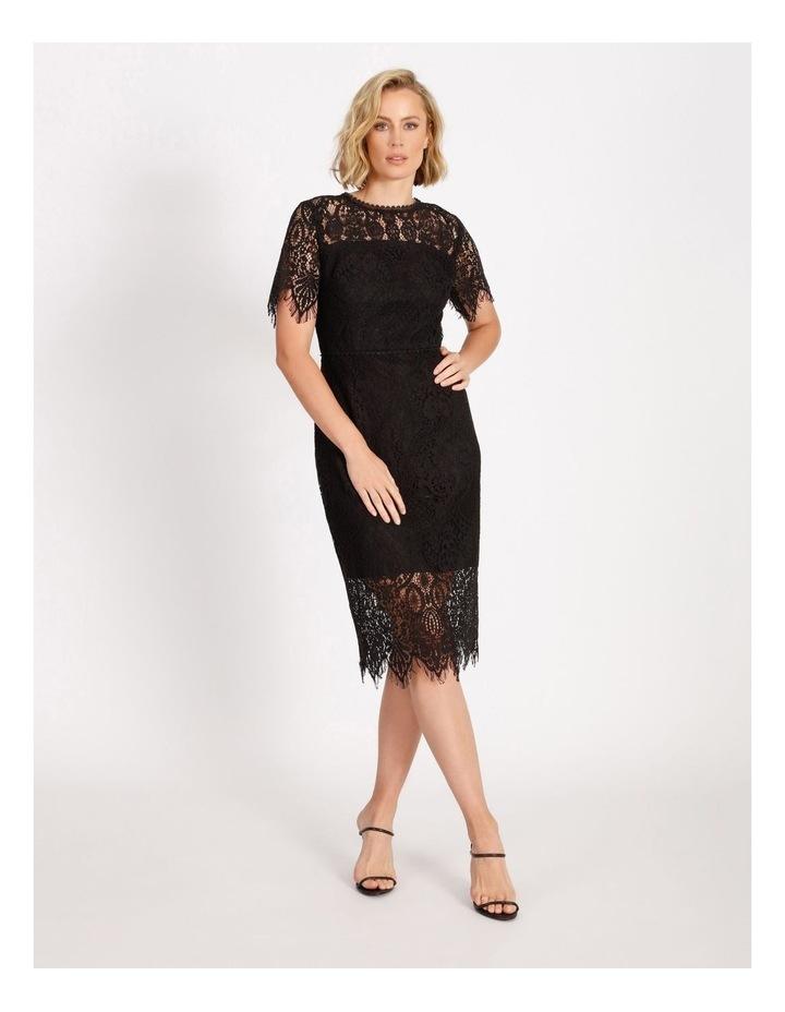 Lace Midi Dress Black image 1