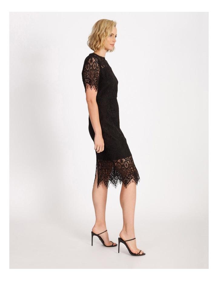 Lace Midi Dress Black image 2