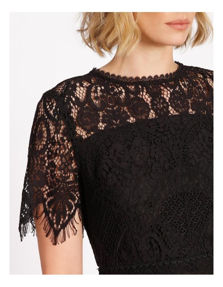 Lace Midi Dress Black image 4