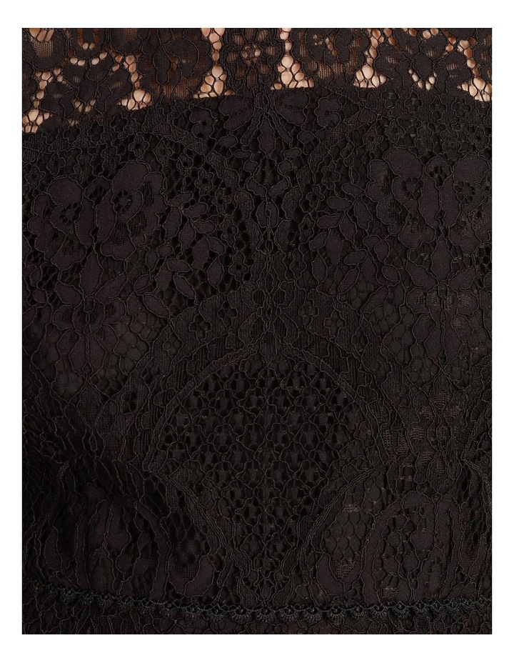 Lace Midi Dress Black image 5