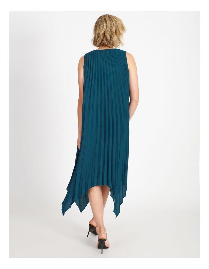 VNeck Pleat Hanky Hem Dress image 3