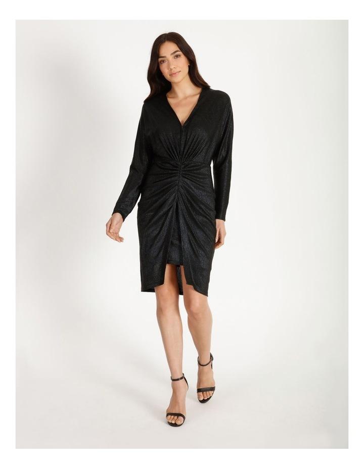 Ruched Metallic Dress image 1