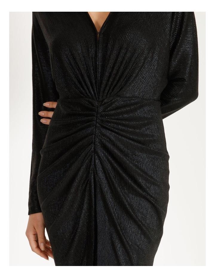 Ruched Metallic Dress image 4