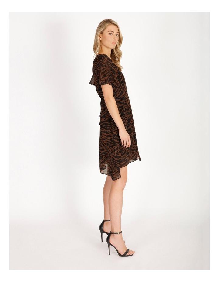 Scarf Print Wrap Dress image 2