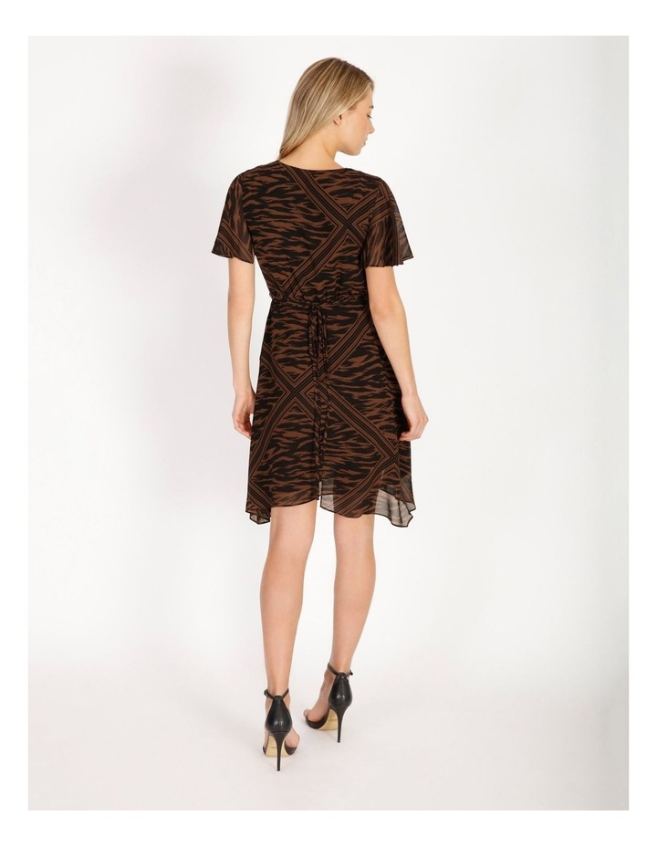 Scarf Print Wrap Dress image 3