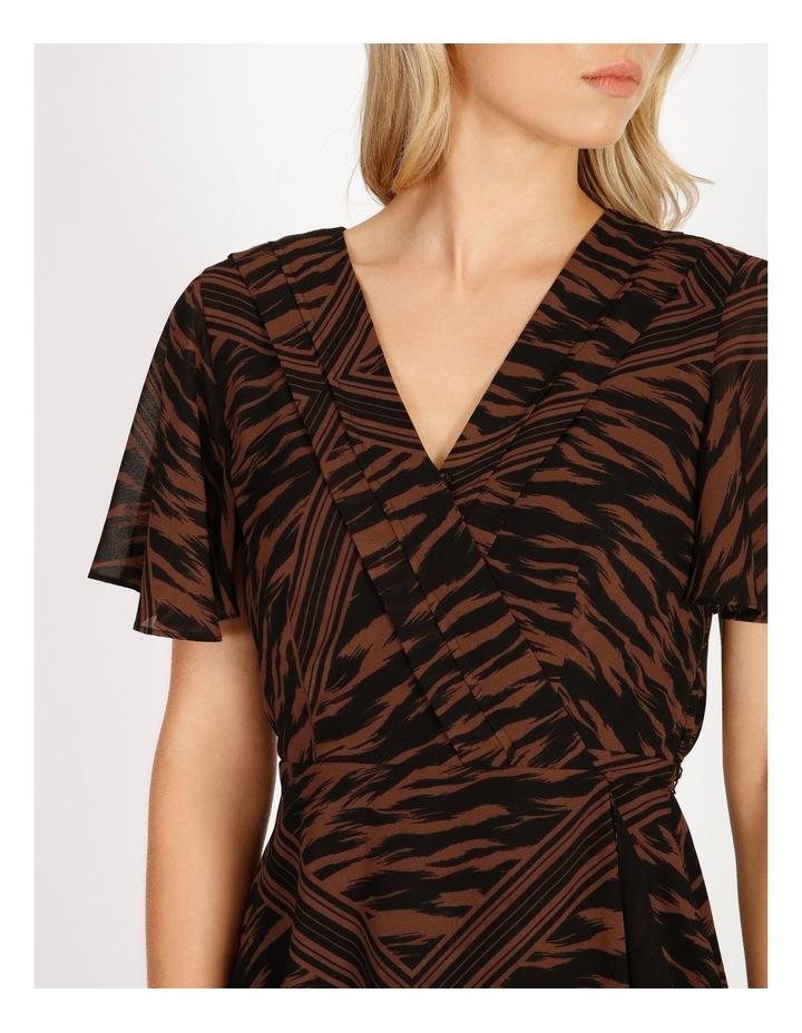 Scarf Print Wrap Dress image 4