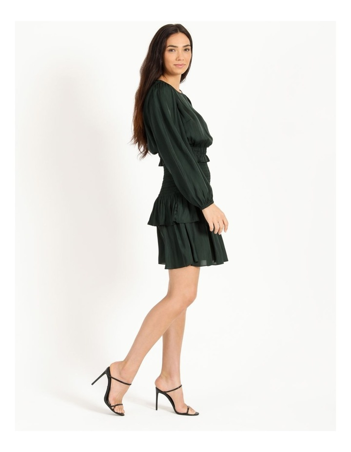 Bruised Poly Tiered Long Sleeve Mini Dress image 2