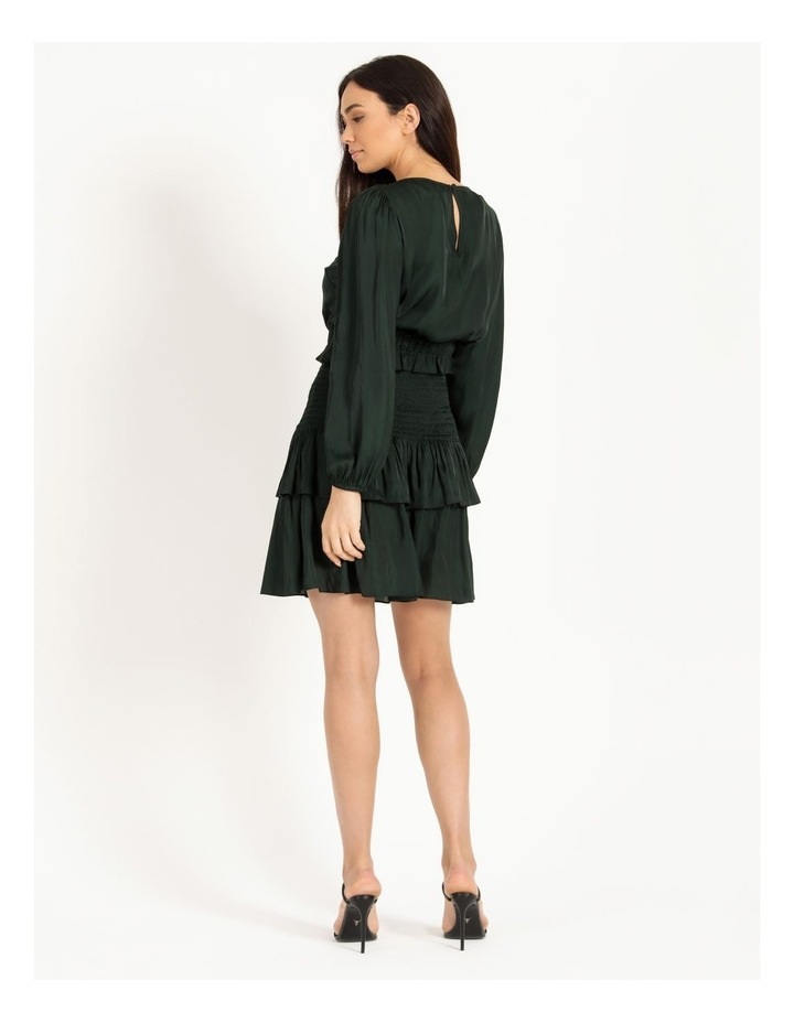Bruised Poly Tiered Long Sleeve Mini Dress image 3