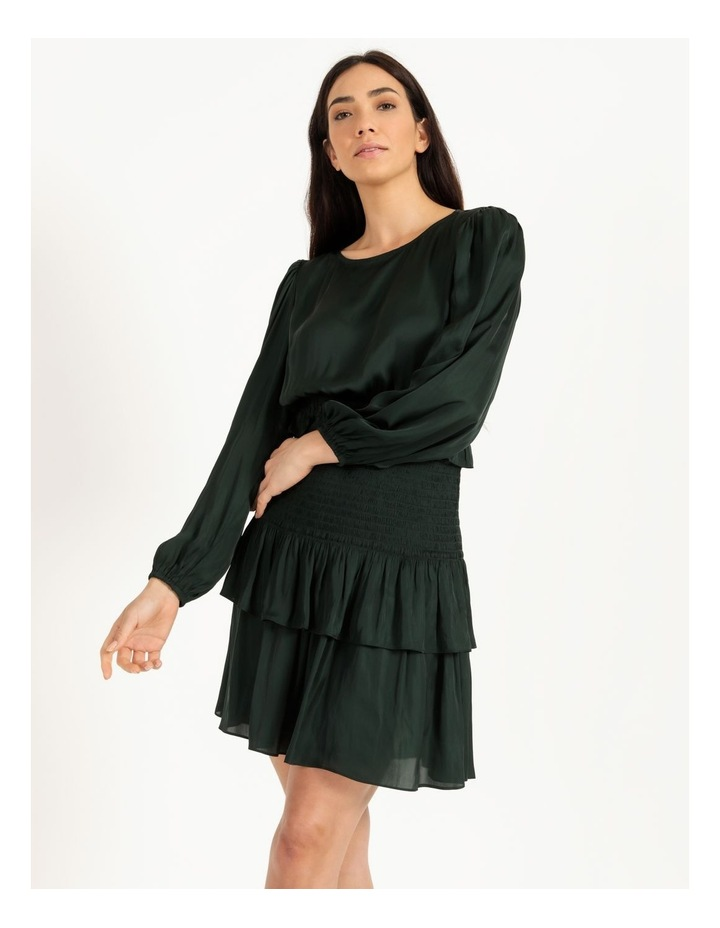 Bruised Poly Tiered Long Sleeve Mini Dress image 4