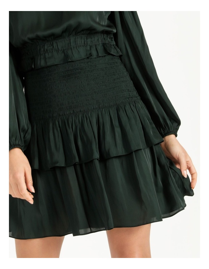 Bruised Poly Tiered Long Sleeve Mini Dress image 5