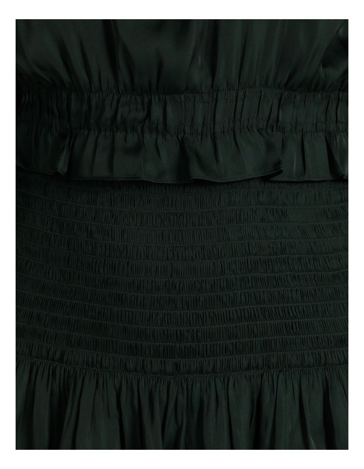 Bruised Poly Tiered Long Sleeve Mini Dress image 6