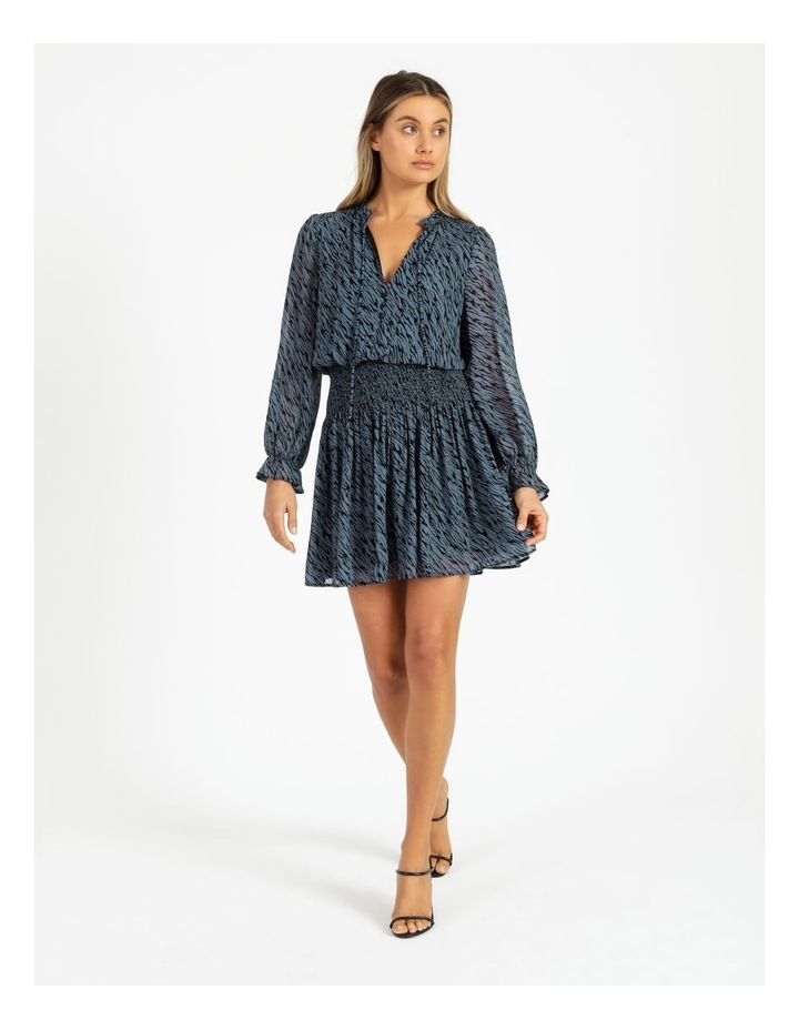 Shirred Waist Georgette Dress image 3