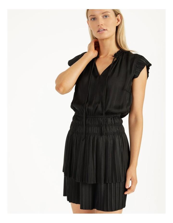 Sleeveless Elastic Waist Mini Dress image 1