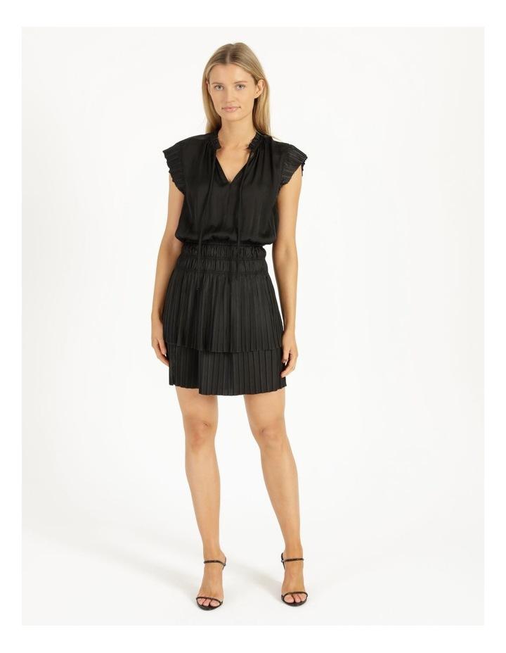 Sleeveless Elastic Waist Mini Dress image 2
