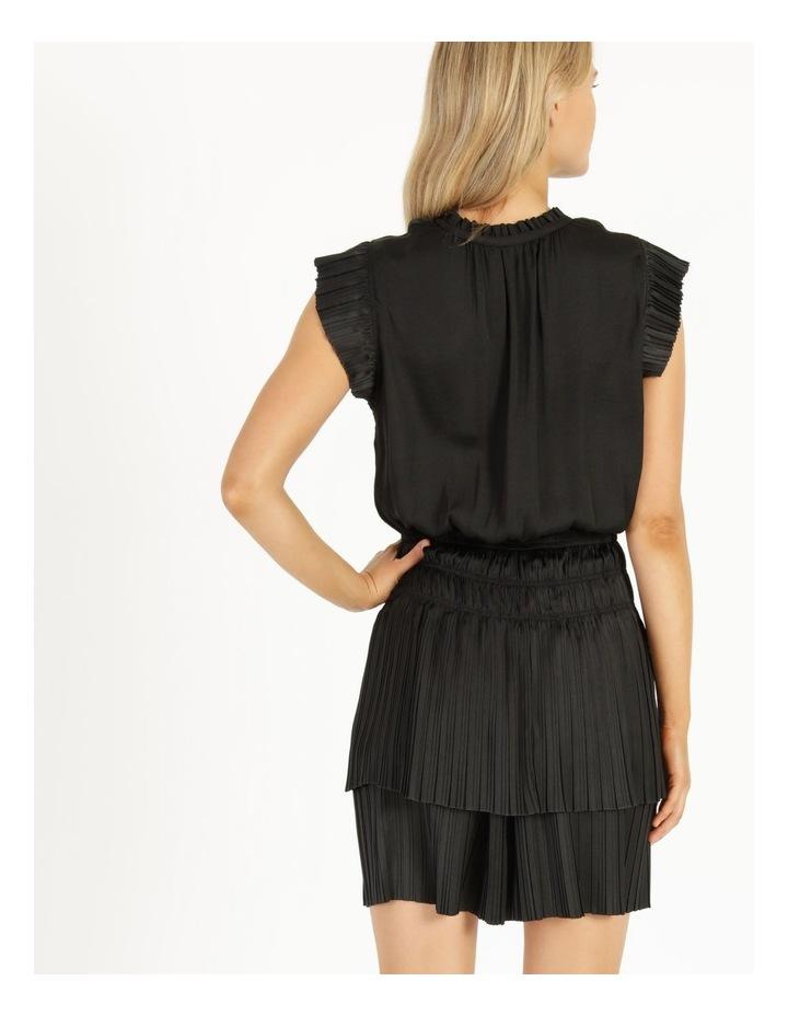 Sleeveless Elastic Waist Mini Dress image 4