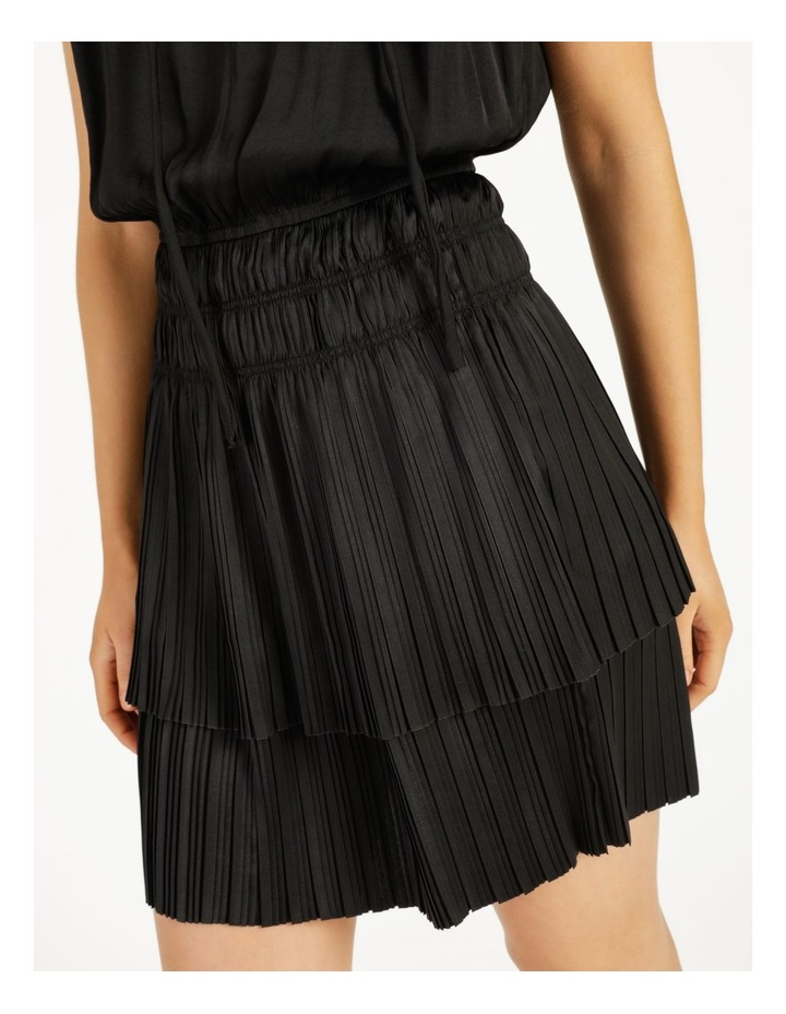 Sleeveless Elastic Waist Mini Dress image 5