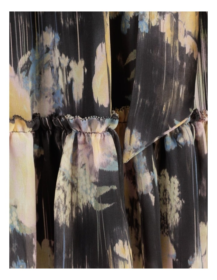 Dripping Flowers V-Neck Ruffle Mini Dress image 7