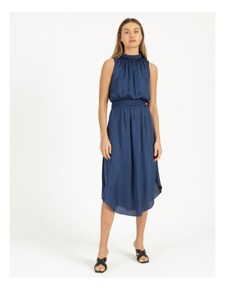 Shirred Sleeveless Midi Dress image 1