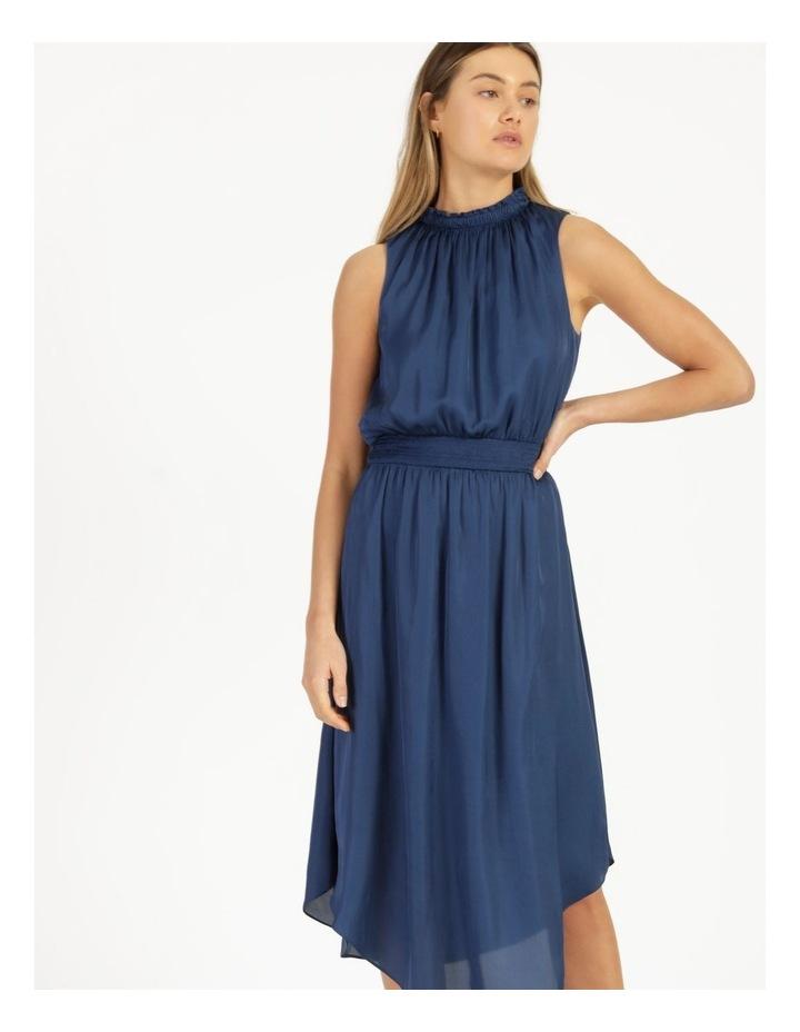 Shirred Sleeveless Midi Dress image 2