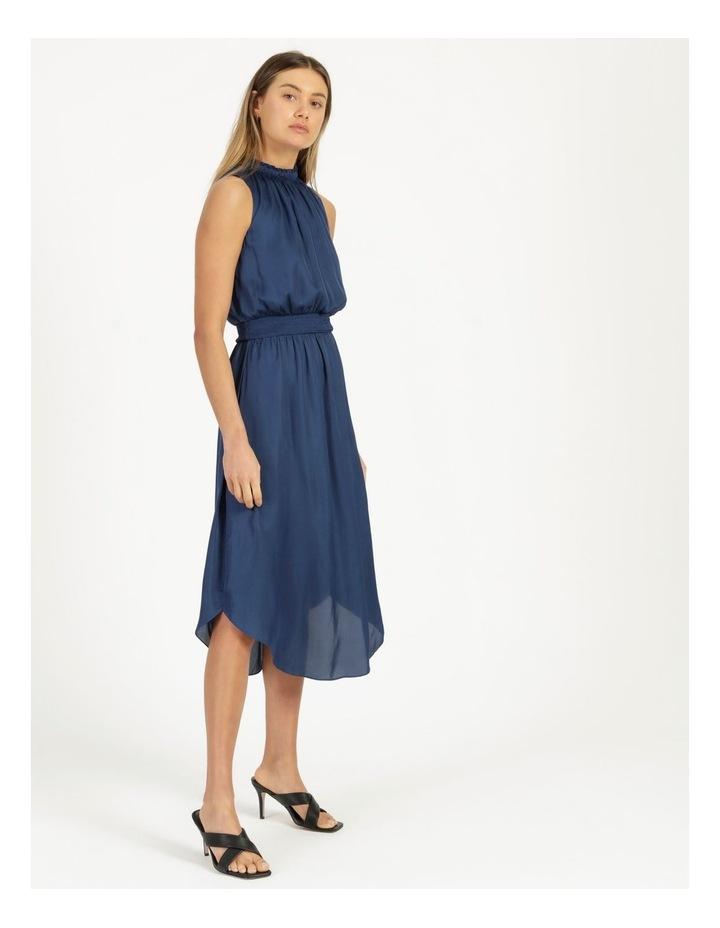 Shirred Sleeveless Midi Dress image 3