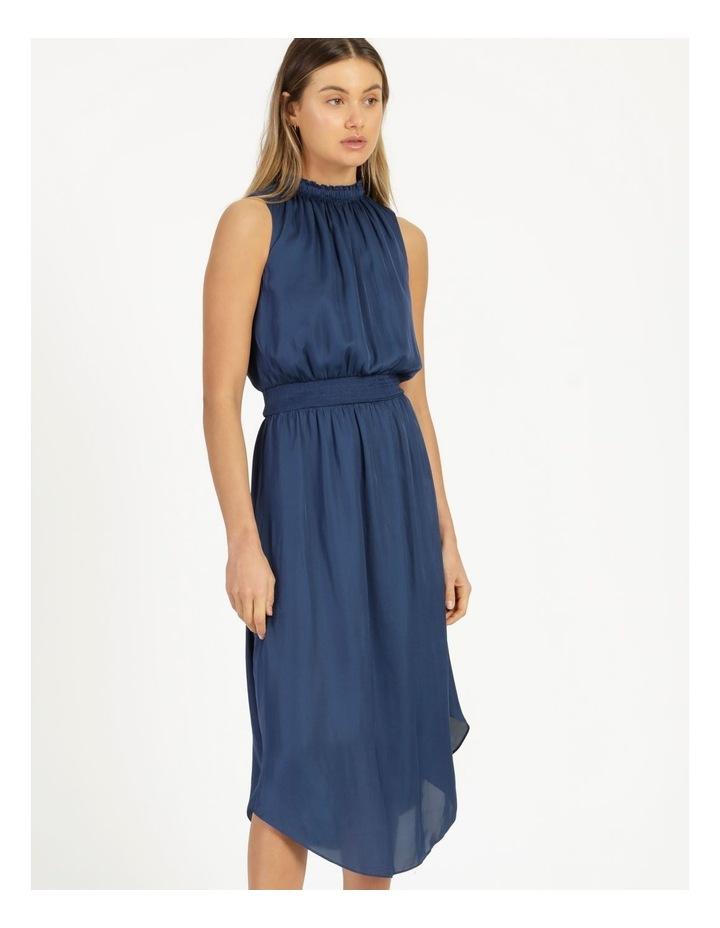 Shirred Sleeveless Midi Dress image 4