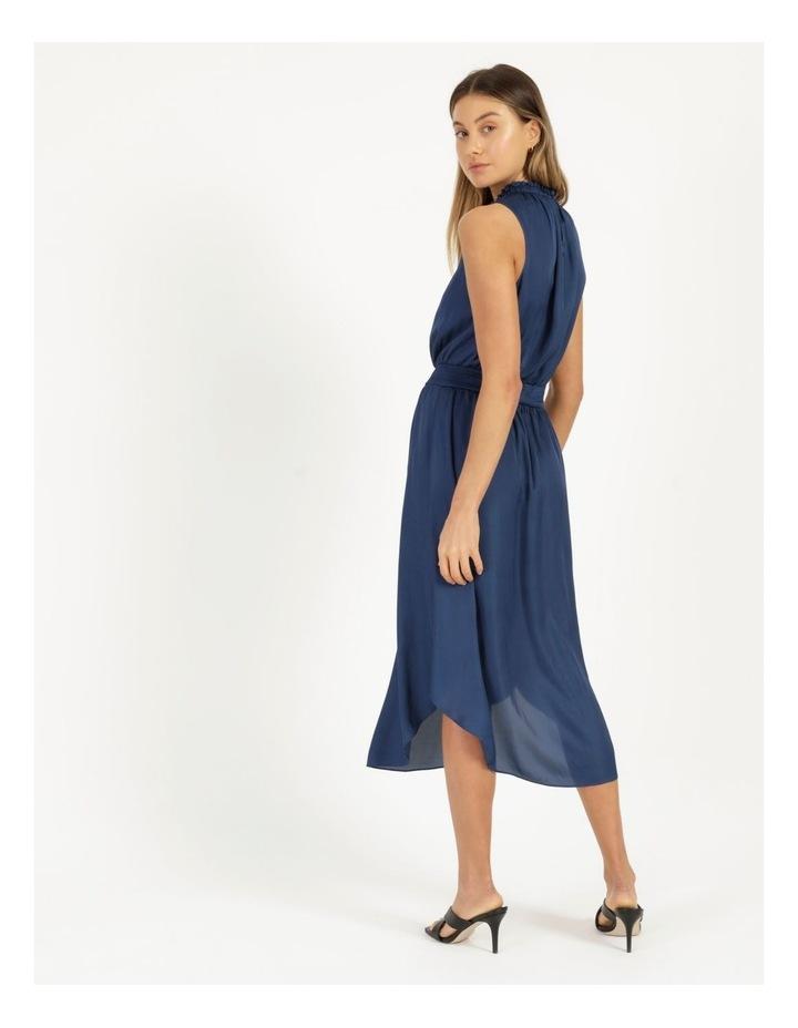 Shirred Sleeveless Midi Dress image 5