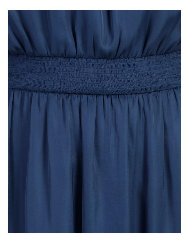 Shirred Sleeveless Midi Dress image 7