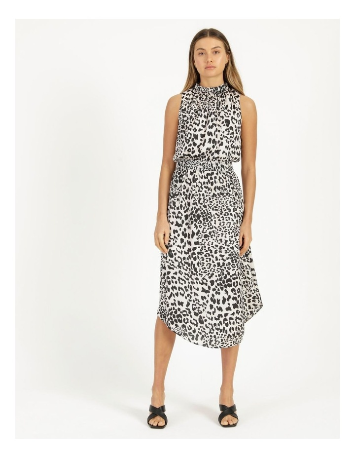 Shirred Sleeveless Midi Dress Print image 1