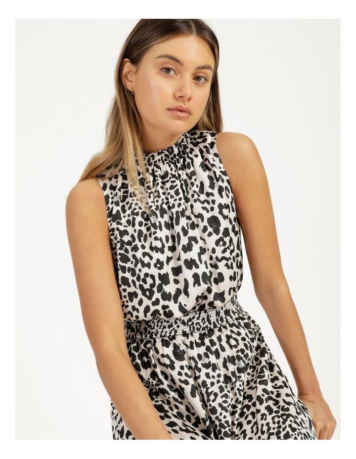 Shirred Sleeveless Midi Dress Print image 2