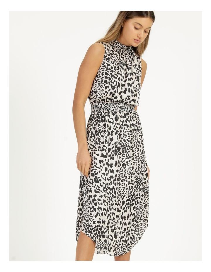 Shirred Sleeveless Midi Dress Print image 3