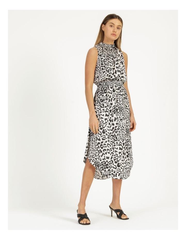 Shirred Sleeveless Midi Dress Print image 4