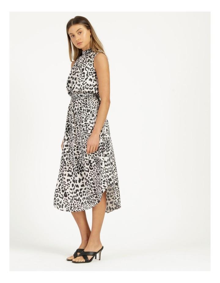 Shirred Sleeveless Midi Dress Print image 5