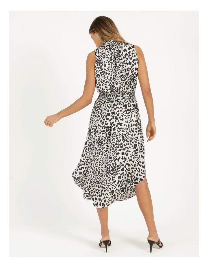 Shirred Sleeveless Midi Dress Print image 6