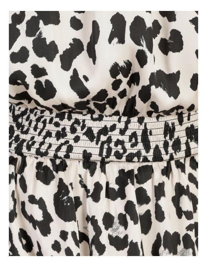 Shirred Sleeveless Midi Dress Print image 7